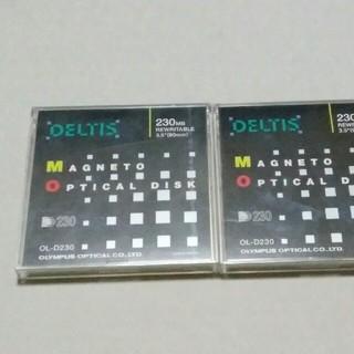 オリンパス(OLYMPUS)のMOディスク 2枚 (230MB)(PC周辺機器)