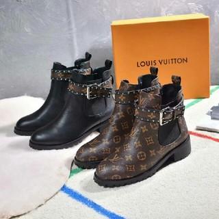 LOUIS VUITTON - ブーツ  茶色と黒色