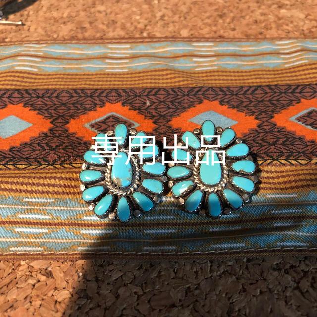 Indian(インディアン)のインディアンジュエリー ターコイズ クラスター イヤリング レディースのアクセサリー(イヤリング)の商品写真