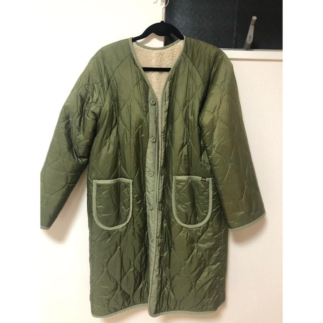 alpha(アルファ)のALPHA ボアリバーシブルライナーコート レディースのジャケット/アウター(ブルゾン)の商品写真