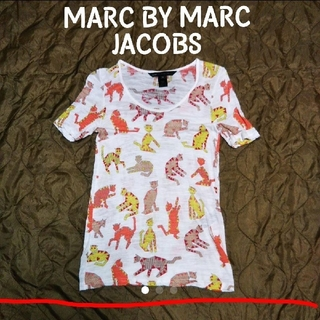 マークバイマークジェイコブス(MARC BY MARC JACOBS)のMARC BY MARC JACOBS ネコ 総柄カットソー(カットソー(半袖/袖なし))