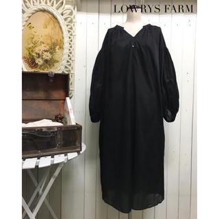 ローリーズファーム(LOWRYS FARM)の【LOWRYS FARM】ロングワンピース ブラック ローリーズファーム(ロングワンピース/マキシワンピース)