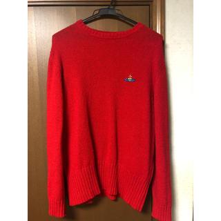 ヴィヴィアンウエストウッド(Vivienne Westwood)のヴィヴィアンウエストウッド ニット 赤 Mサイズ イタリア製(ニット/セーター)