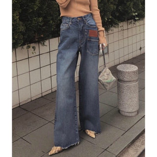 Ameri♡OVERLAP FAKE DENIM 24inch