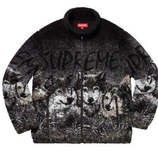 Supreme - Mサイズ supreme wolf fleece jacket black 黒