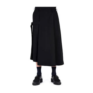 LADMUSICIAN CROPPED FLARE WIDE PANTS