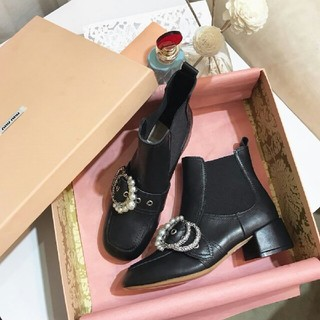 miumiu - ♡miumiu真珠短ブーツ