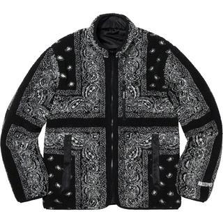 Supreme - Reversible Bandana Fleece Jacket XL 黒