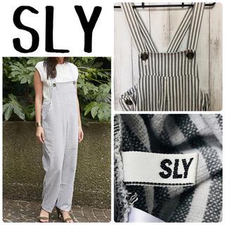 スライ(SLY)のSLY サロペット ストライプ レディース(サロペット/オーバーオール)