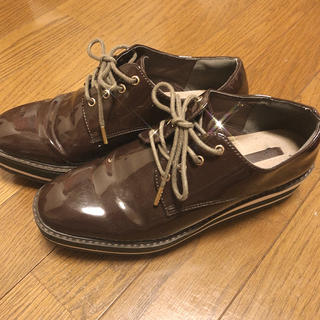 ザラ(ZARA)のブラウンローファー 革靴 厚底(ローファー/革靴)
