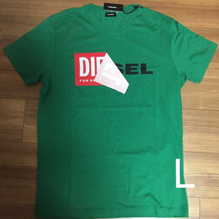 DIESEL - ディーゼル ロゴTシャツ グリーン L
