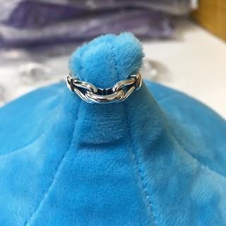 ノットデザイン 風 シルバーリング s925  フリーサイズ ジュエリー(リング(指輪))