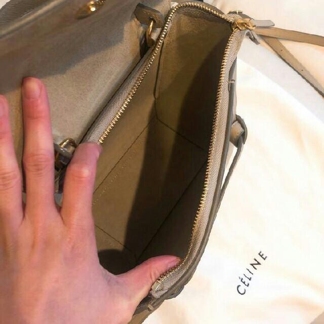 celine(セリーヌ)のセリーヌ ベルトバッグ ライトトープ 正規品 レディースのバッグ(ショルダーバッグ)の商品写真