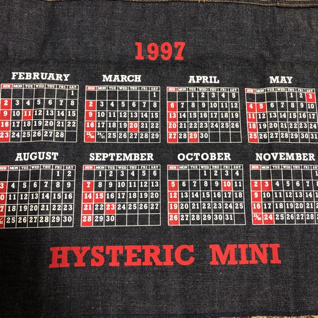 HYSTERIC MINI(ヒステリックミニ)のゲキレア1997年 デニムカレンダー ハンドメイドの素材/材料(生地/糸)の商品写真