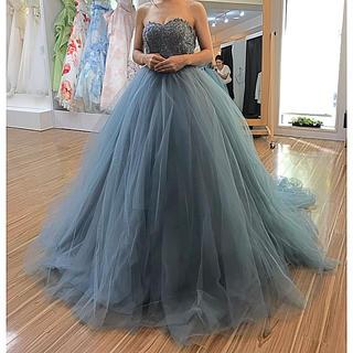 ブルーグレー ドレス(ウェディングドレス)