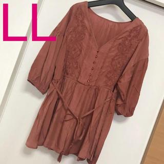 Rose Tiara - 新品未使用タグ付き LLサイズ リジェイ 刺繍ブラウス チュニック大きいサイズ