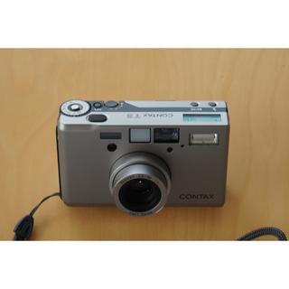 キョウセラ(京セラ)の美品 CONTAX T3D(シルバー)高級コンパクトカメラ 専用ケース付き(フィルムカメラ)