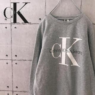 Calvin Klein - 【人気】90s カルバンクライン デカロゴ スウェット トレーナー