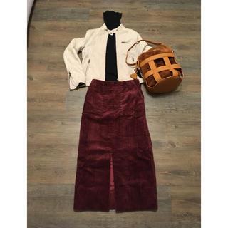 ユナイテッドアローズ(UNITED ARROWS)のアストラット 太畝コーデュロイスカート0ボルドー(ロングスカート)