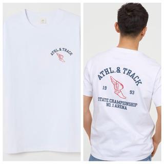 エイチアンドエム(H&M)の【H&M】新作&新品  ☑️ ATHL.&TRACK Tシャツ Mサイズ(Tシャツ/カットソー(半袖/袖なし))