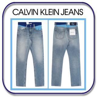 カルバンクライン(Calvin Klein)のカルバン クライン ジーンズ スリム ドッキリ加工(?) W30 / L32(デニム/ジーンズ)