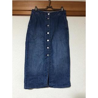 GU - 🌼前釦デニムタイトスカート