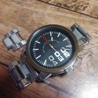 DIESEL - コマ付き! ディーゼル腕時計 メッシュコンビ 新電池🔋
