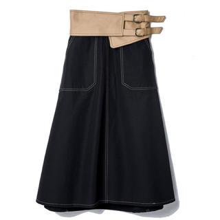 REDYAZEL - レディアゼル  配色コルセット付フレアスカート