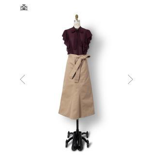 ドゥロワー(Drawer)のDrawer ドゥロワー 秋スカート  ベージュ 定価45000円  セリーヌ(ひざ丈スカート)