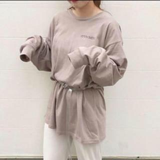 Kastane - カスタネ 刺繍ロゴルーズtシャツ