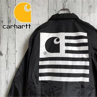 carhartt - カーハート コーチジャケット ビッグロゴプリント 黒 ブラック carhartt