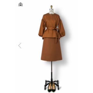 ドゥロワー(Drawer)のDrawer ドゥロワー 秋スカート  ベージュ 定価62600円  セリーヌ(ひざ丈スカート)