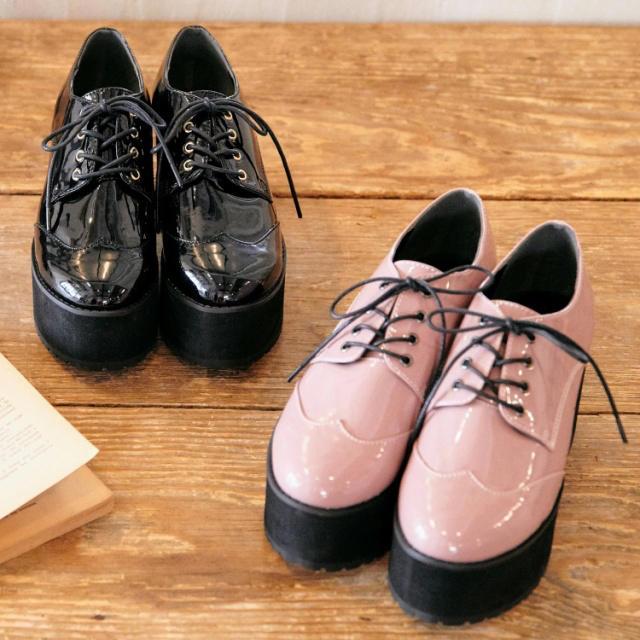 Ank Rouge(アンクルージュ)のAnk♡今期レースアップ厚底シューズ レディースの靴/シューズ(その他)の商品写真