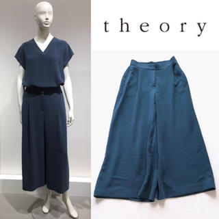 Theory luxe - theory luxe DOUBLE WEFTゆったりウォッシャブルワイドパンツ