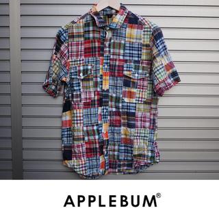アップルバム(APPLEBUM)のAPPLEBUM パッチワークシャツ  チェック(シャツ)