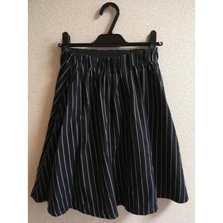 ローリーズファーム(LOWRYS FARM)のLOWRYSFARM ストライプスカート フレアスカート(ひざ丈スカート)