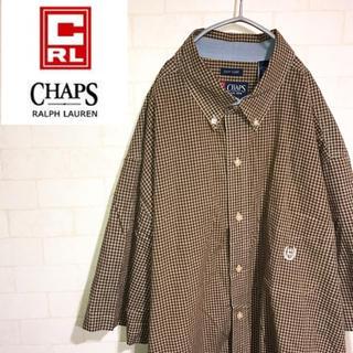 CHAPS - ラルフローレン BDシャツ ワンポイント オックスフォード チェック 90s