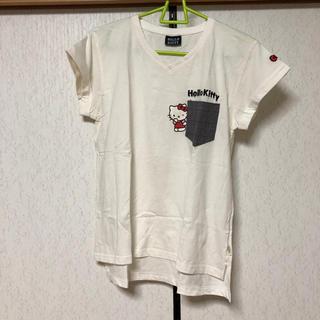 ハローキティ(ハローキティ)のハローキティ VネックTシャツ(Tシャツ(半袖/袖なし))