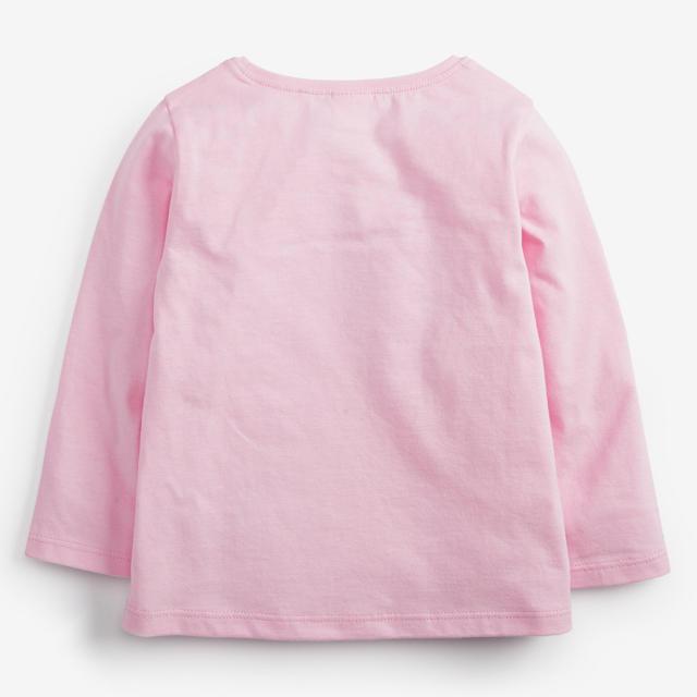NEXT(ネクスト)の【新品】next ピンク スパンコールレインボー長袖Tシャツ(ヤンガー) キッズ/ベビー/マタニティのベビー服(~85cm)(シャツ/カットソー)の商品写真