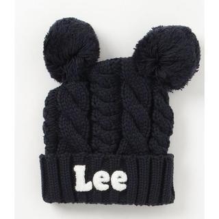 リー(Lee)の【新品】Lee くま耳付き ニット帽【定価40%off】(帽子)