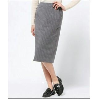ローリーズファーム(LOWRYS FARM)のLOWRYS FARMピンストライプスカート(ひざ丈スカート)