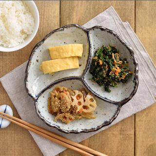美濃焼 和食器 大皿 花型 仕切り皿 陶器 食器