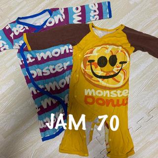 ジャム(JAM)のJAM ジャム ロンパース モンスタードーナッツ 2枚セット スマイル(ロンパース)