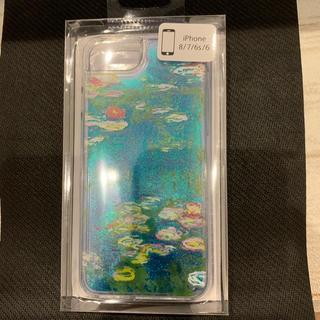 クロードモネ 睡蓮 iphone8 ケース グリッター 松方コレクション パルコ(iPhoneケース)