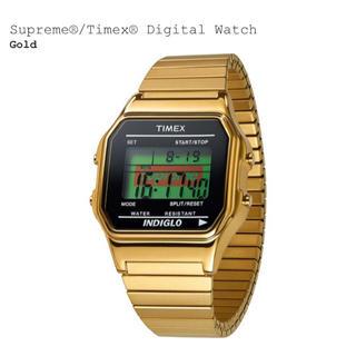 SUPREME TIMEX DIGITAL WATCH GOLD