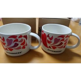 Starbucks Coffee - スタバ STARBUCKS ハートマグカップ 2個