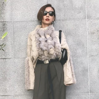 タグ付き ameri vintage BRAID FUR KNIT
