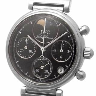 インターナショナルウォッチカンパニー(IWC)のIWC リトルダヴィンチ クォーツクロノグラフ デイト ムーンフェイズ 黒文字盤(腕時計(アナログ))