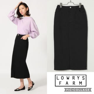 LOWRYS FARM - 《SALE》《美品》LOWRYS FARM タイトスリットロングスカート