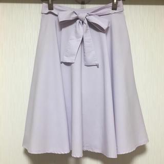 MISCH MASCH - MISCH MASCH  綺麗色 リボンベルト付きフレアースカート  日本製